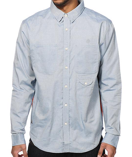 a10debeb 10 Deep Red Tail Work Long Sleeve Button Up Shirt | Zumiez