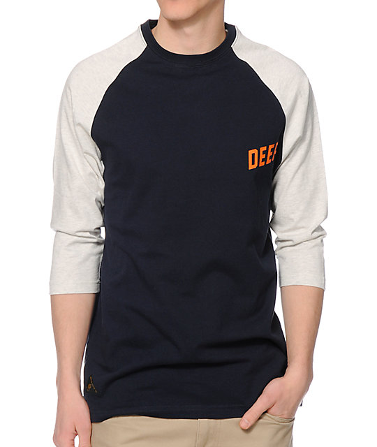 10 Deep Slope Navy Baseball T-Shirt