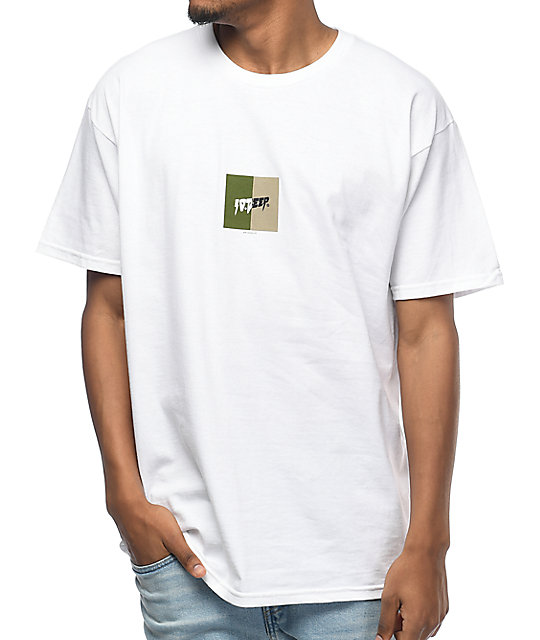 10 Deep Split White T-Shirt