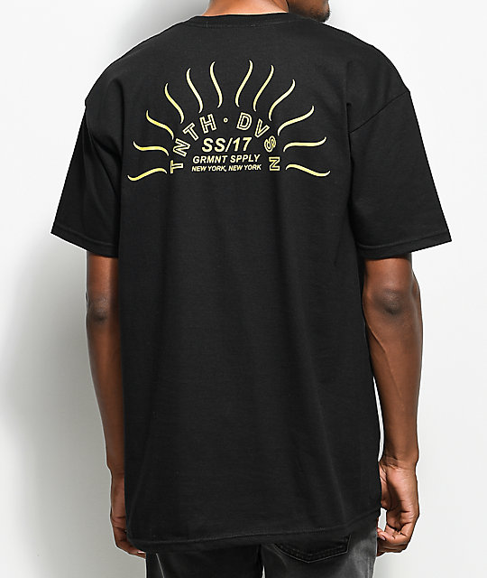 10 Deep Sunrise camiseta negra