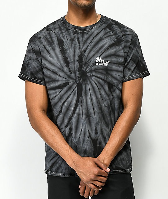 10 Deep Tenth Division Massive Black Tie Dye T-Shirt