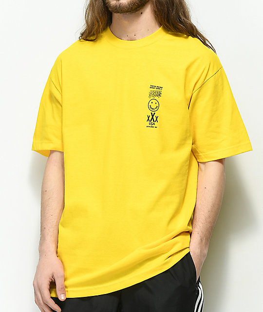10 Deep Triple Stack III Yellow T-Shirt