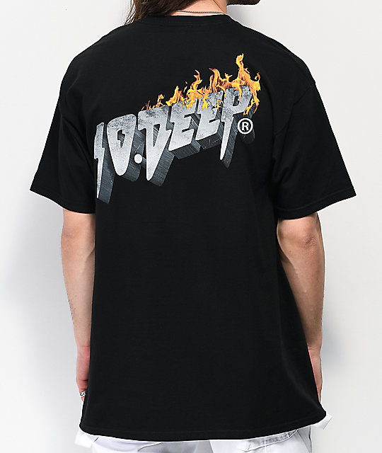 10 Deep Virtual World camiseta negra