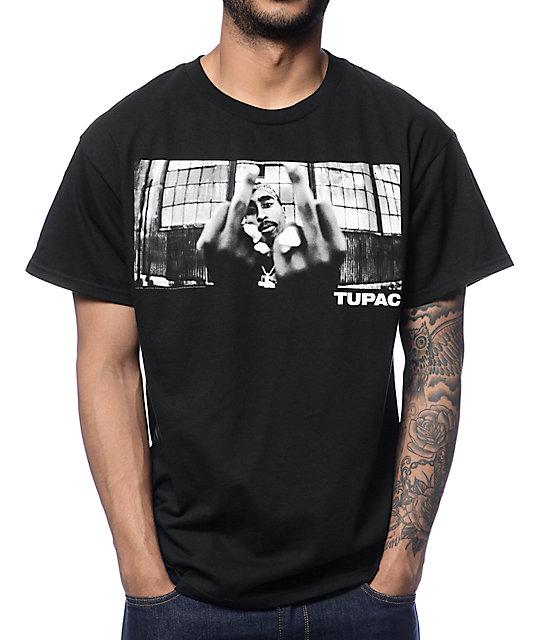 spottbillig verschiedene Stile Schlussverkauf 2Pac 2 Birds Black T-Shirt