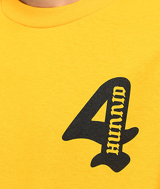 4 Hunnid Cupid Gold T-Shirt