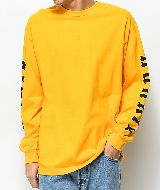 4 Hunnid Olde Yellow Long Sleeve T-Shirt