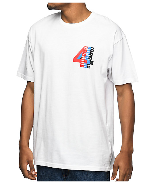 4 Hunnid Spoke White T-Shirt