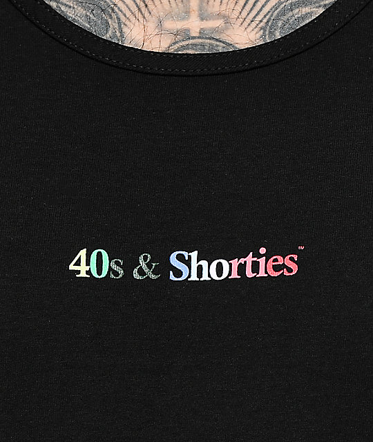 40s & Shorties Black Tank Top