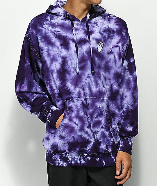 d3a2b765cca 40s   Shorties Double Cup Purple Tie Dye Hoodie