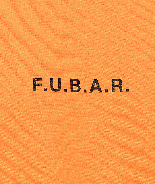 40s & Shorties F.U.B.A.R. camiseta de manga larga en color naranja