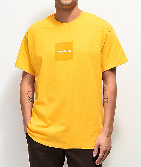 40s & Shorties Gold Box Text Logo T-Shirt