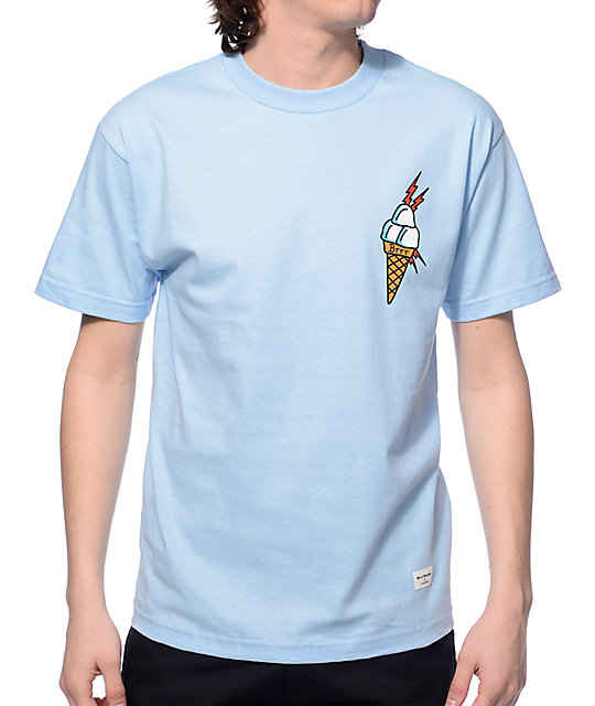 40s &Amp; Shorties Ice Cream Blue T Shirt by 40 S And Shorties