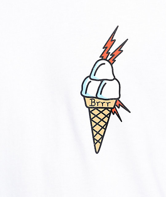40s & Shorties Ice Cream camiseta blanca