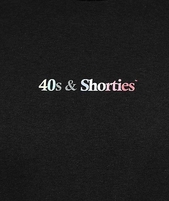 40s & Shorties Multicolor Black T-Shirt