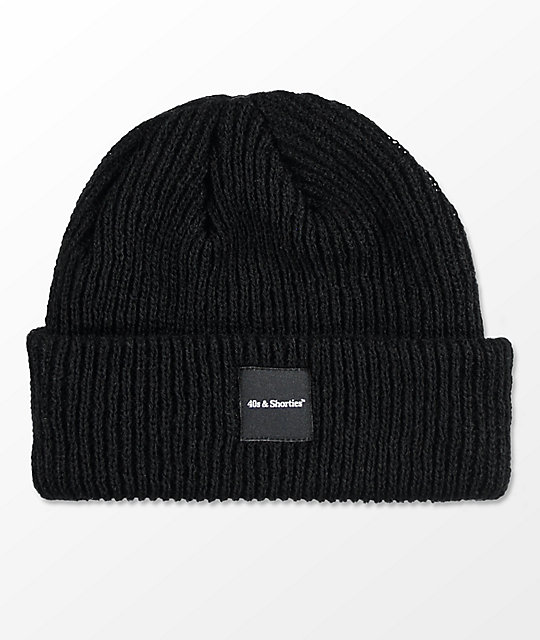 40s   Shorties Premium Logo Black Beanie  1234cfeedc0