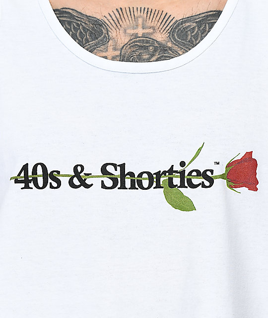 40s & Shorties Rose White Tank Top