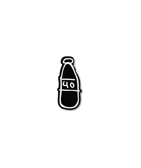 40s & Shorties Scribble Bottle Pin