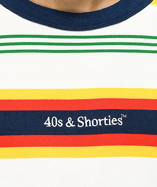 40s & Shorties Sundown camiseta de rayas multicolor