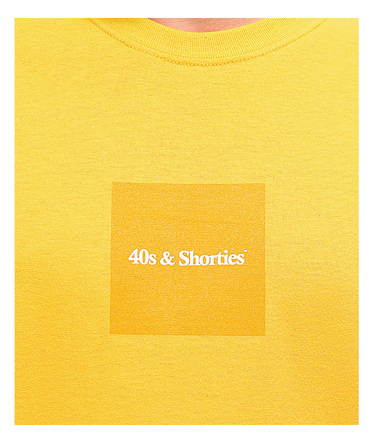40s and Shorties Gold Box Text Logo T-Shirt
