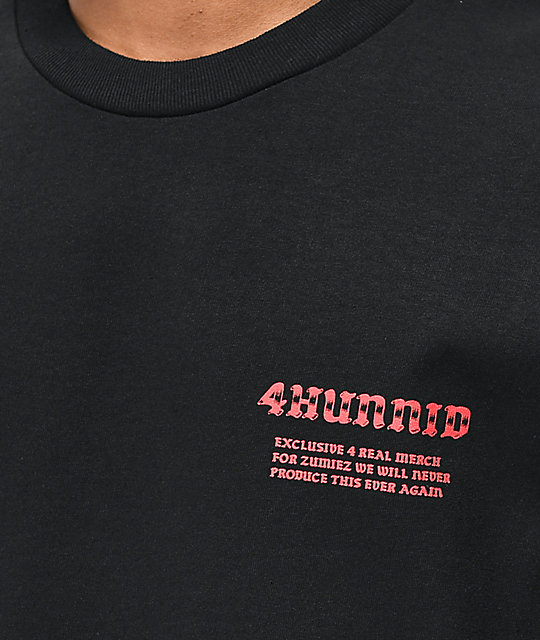 4Hunnid 4Real Hand Black T-Shirt