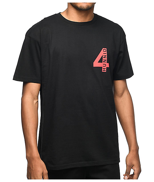 4Hunnid Acres Black T-Shirt