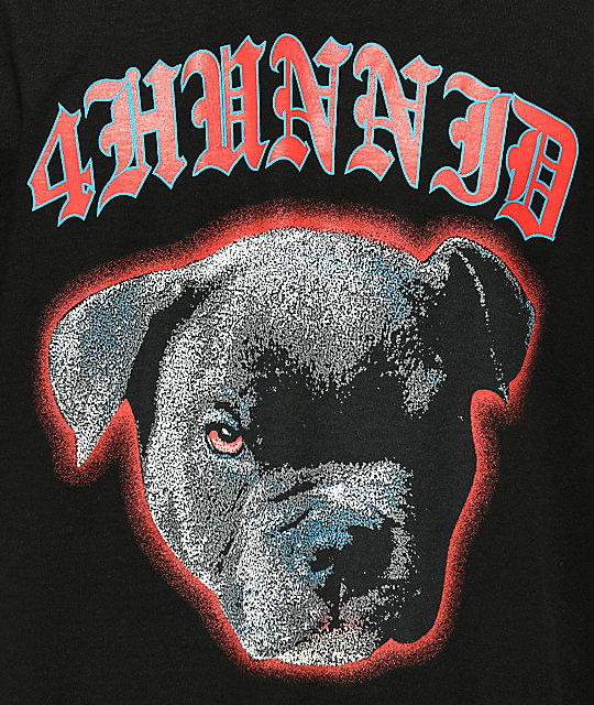 4Hunnid Blue Nose Black T-Shirt