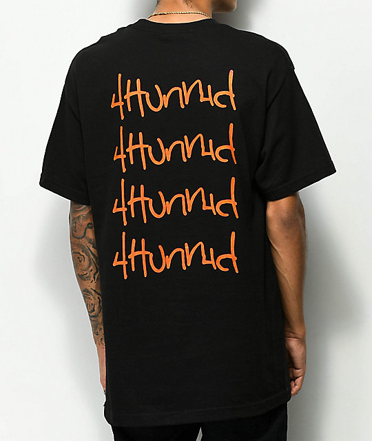 4Hunnid Hit Up Repeat Black T-Shirt