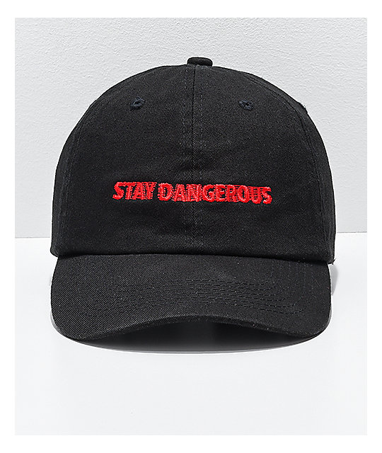 4Hunnid Stay Dangerous Black Strapback Hat