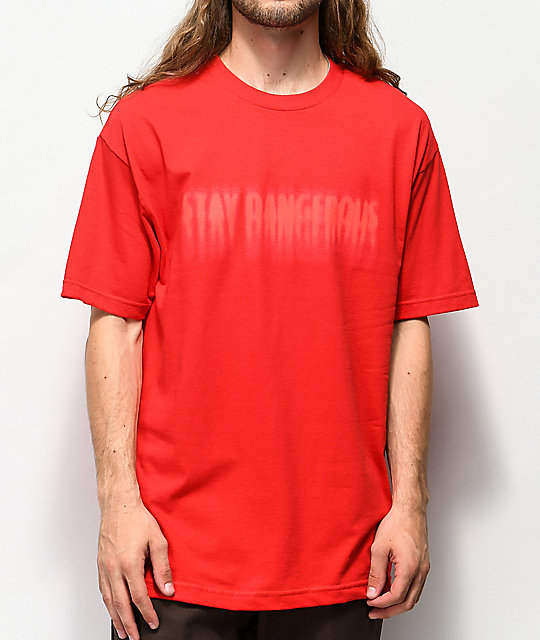 4Hunnid Stay Dangerous Blur Red T-Shirt
