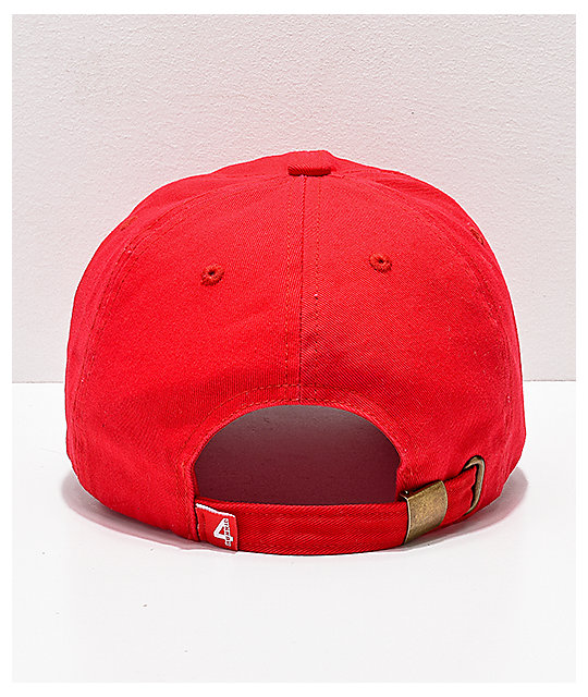 4Hunnid Stay Dangerous Red Strapback Hat