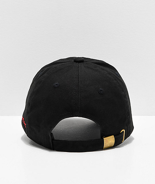 4Hunnid Stop Snitching Black Strapback Hat