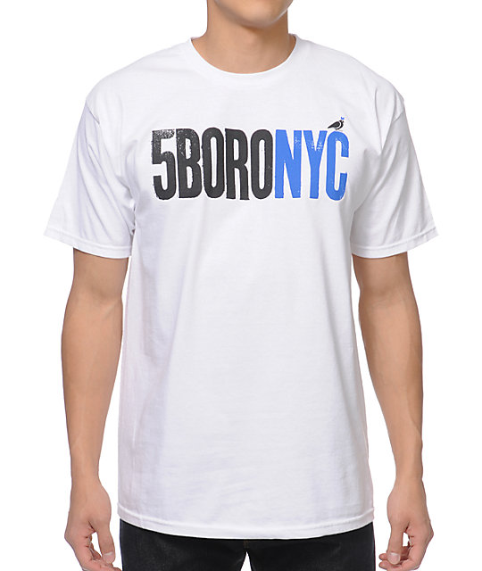 5BORO Letterpress White T-Shirt