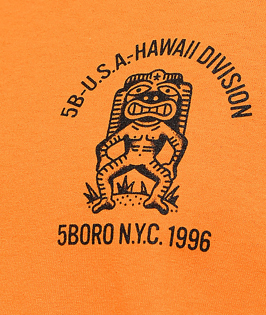 5Boro Hawaii Division Orange Long Sleeve T-Shirt
