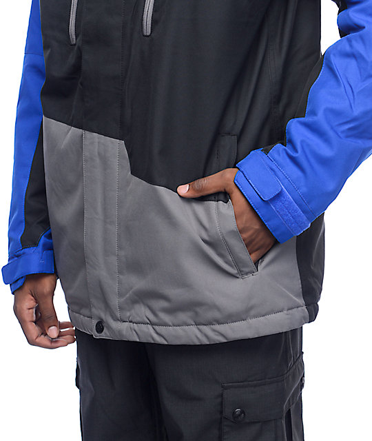 686 Authentic Geo Colorblock 10k Cobalt Snowboard Jacket
