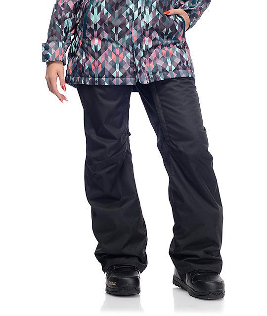 686 Authentic Standard Black Womens 5k Snowboard Pants