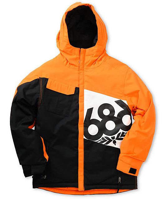 686 Boys Mannual Iconic Insulated Orange 5K Snowboard Jacket