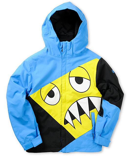 8bf48338b 686 Boys Snaggleface 5K Blue Snowboard Jacket