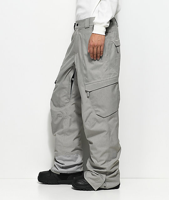 686 GLCR Quantum Thermagraph Light Grey 20K Snowboard Pants