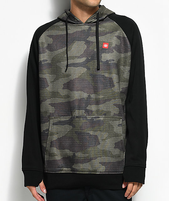 686 Knockout Bonded Tech Fleece Camo & Black Hoodie