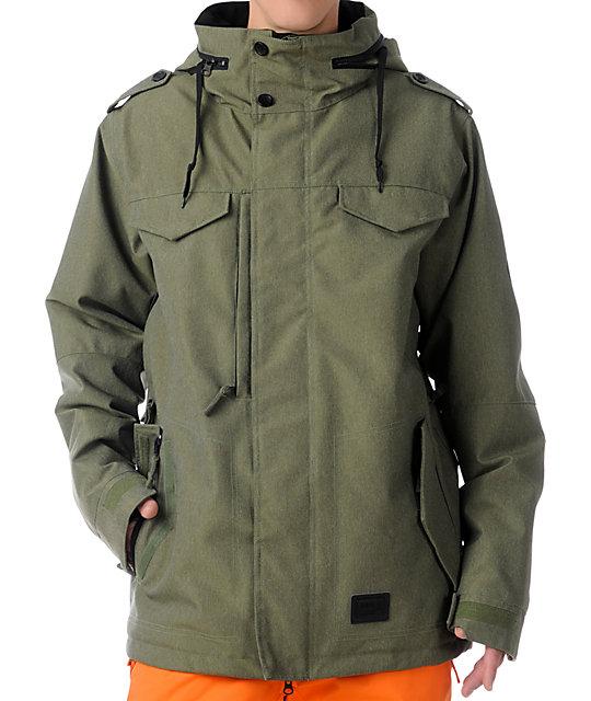 686 M 65 Army Green 10K Snowboard Jacket