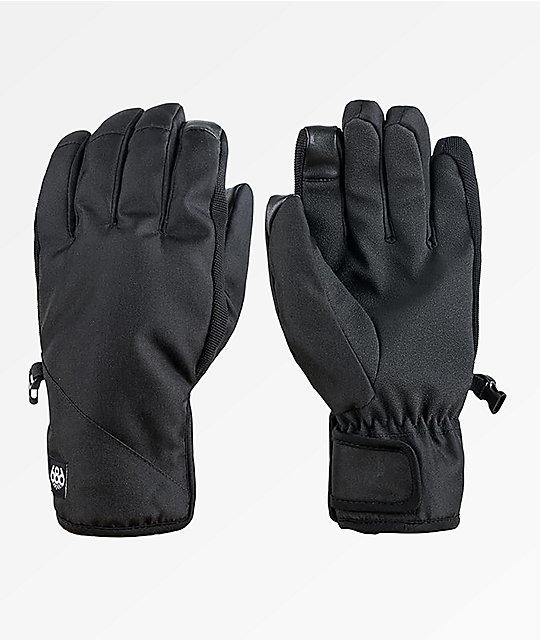 686 Ruckus Black Snowboard Gloves