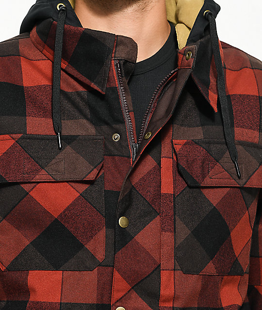 7ddc8ab9d 686 Woodland Red Plaid 10K Snowboard Jacket