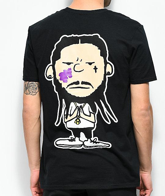 dc1dc63218b ... A AP Mob Too Cozy Graphic Black T-Shirt ...
