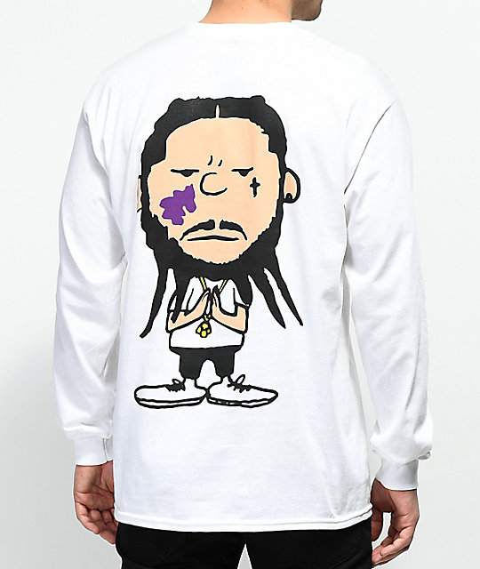 A$AP Mob Too Cozy Graphic White Long Sleeve T-Shirt
