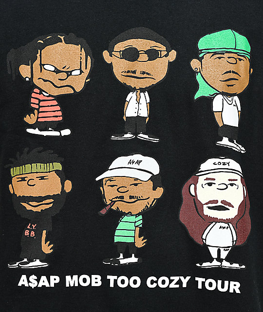 A$AP Mob Too Cozy Graphic camiseta negra
