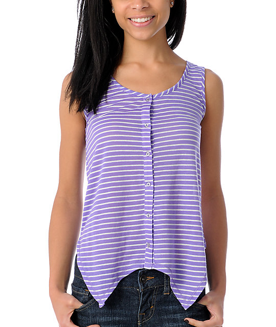 A Fine Mess Cali Bound Neon Purple Tank Top