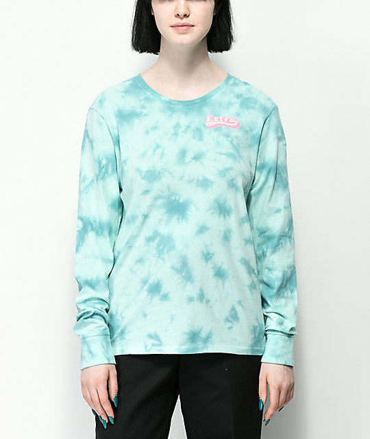 A-Lab Aby Extra Blue Tie Dye Long Sleeve T-Shirt