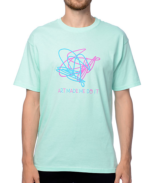 A-Lab Art Made Me Aqua T-Shirt