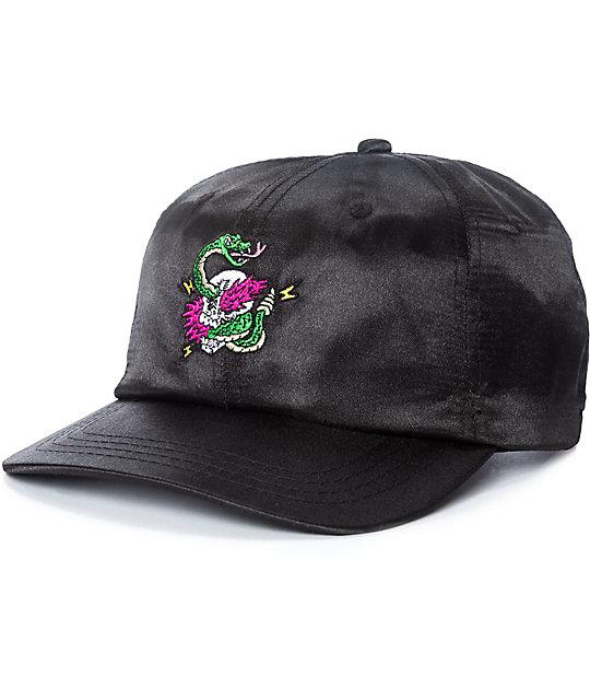 A-Lab Billy Black Satin Snapback Hat  b507068d0b1