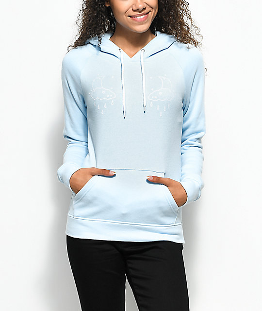 A-Lab Brealynna Moon Baby Blue Hoodie